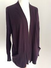 The White Company, White Label Women's Purple Cotton Wool Blend Cardigan, UK 10