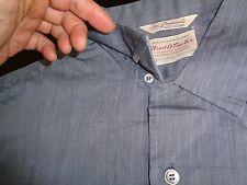 NOS STRADIVARI 50s Blue Iridescent Flecked Long Sleeve Loop Collar ROCKABILLY XL
