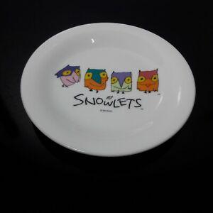 Nagano Olympic 1993 Official Snowlets Dish Plate by Yamaka Fashion Bone Japan
