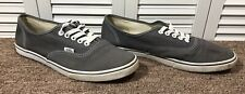 Van's Off The Wall Men's Size 9 Plain Gray Canvas Sneakers Skater Shoes T375