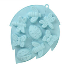 Silicone Mould- Bug Insect Tray- Ladybird Bee Butterfly Baking Cake Pan Mould