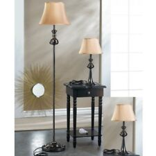 Modern Floor Lamp Lamps For Living Room 3-Piece Set Lamps Black Plated Metal