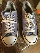 Converse All star Sneaker Purple Mens 7 Womens 9 Lavender Frayed Edgings Style