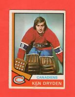 1974-75 O-Pee-Chee OPC  # 155 Ken Dryden no crease