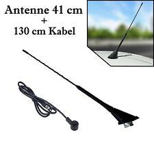 Dach Autoantenne 41 cm AM FM mit Fuß und 130 cm Kabel für Ford Fiesta + Focus