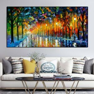 HD Print Landscape Painting Wall Art Print on Canvas Lover In The Rainy Light