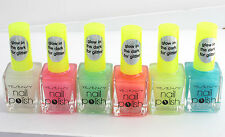 LOT of SIX Nail polish glow IN THE DARK for GLITTER  NEW Christmas YESENSY N32