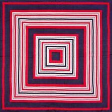 """100% Silk Scarf Squares Stripes Illusion 19"""" X 19"""" Square Bandanna Neckerchief"""