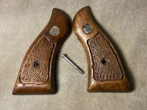 Smith & Wesson K Frame Square Butt Magna Factory Grips - used, serviceable -