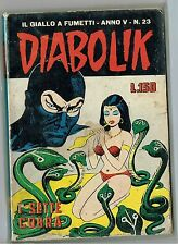 Diabolik Anno V n. 23 I sette cobra ed. Astorina