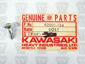Kawasaki NOS NEW 92001-134 Bolt 5x12 KD KE KX KS F12MX KD175 KD125 KE175 KE125