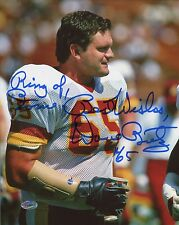 """Dave Butz with """"Ring of Fame"""" Autographed 8x10 Washington Redskins"""