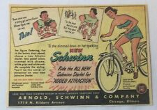 1950 Schwinn bicycle cartoon ad ~ SCHWINN STARLET