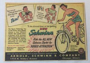 1950 Schwinn bicycle cartoon ad ~ SCHWINN STARLET