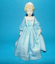 ROYAL WORCESTER  Figurine ' Grandmothers Dress ' RW3081  blue by F G Doughty