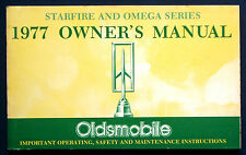 Owner's Manual Betriebsanleitung 1977  Oldsmobile Starfire + Omega  (USA)