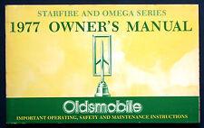 Owner's Manual Betriebsanleitung 1977  Oldsmobile Starfire + Omega  (USA)