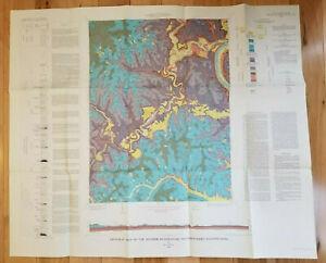 Vintage 1969 Geologic Map of Mather Quadrangle, Southwestern Pennsylvania