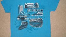 PITTSBURGH Heinz Field - PNC Park - Incline T-Shirt SMALL Pirates Steelers PITT