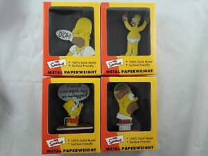 The Simpsons Metal Paperweights x4