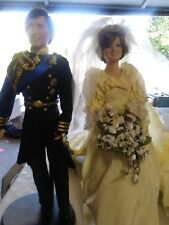 Prince Charles Bridgegroom Princess Diana Bride Wedding Dolls Danbury Mint