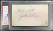 Jackie Robinson Signed Index Card Baseball Autograph Inscription Dodgers PSA/DNA