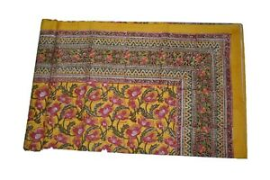 Indian Hand Block Print Cotton Bed Sheet Best Quality Kantha Bed Sheet BS 06