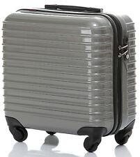 "Merax Travelhouse Suitcase 16"" ABS 4-wheel Carry on Luggage with TSA Lock Gray"