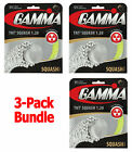3 Packs of Gamma TNT2 17 1.20mm Squash Racquet String - Great Feel and Power