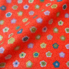 Tessuto di cotone giapponese Remnant 50x55cm Persimmon Floreale PC753