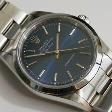 Rolex AirKing Stainless Steel Blue Dial Mens Automatic Watch. SS Air King