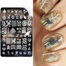 Arte en uñas placa de imagen Planchas para Estampar Navidad Copos De Nieve Pan De Jengibre Hombre (MR01)