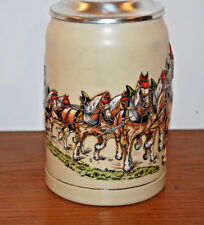 DECORATIVE LIDDED STEIN---HORSES PULLING A BEER WAGON