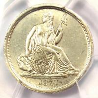 1837 Seated Liberty Dime 10C (No Stars) - PCGS Uncirculated Details (UNC MS)