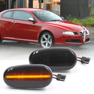 Smoked Lens Amber Led Front Fender Side Marker Light for Alfa Romeo 147 GT Mito