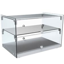 """Marchia Sa50 22"""" Dry Glass Countertop Bakery Display Case, Dual Service"""