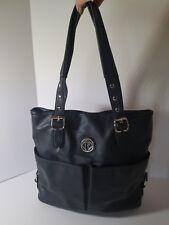 Relic by Fossil Handbag Black Purse Hobo Shoulder Bag Front Pockets