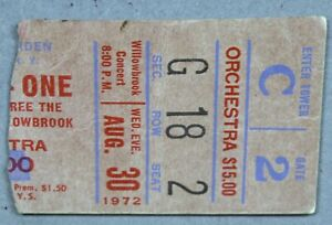 Beatles-John Lennon One To One Benefit Concert Ticket Stub-MSG-Aug 30, 1972