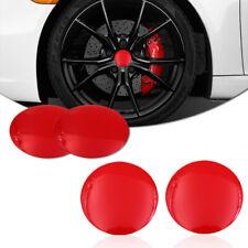 4PCS Universal Red Aluminum 56.5mm Car Wheel Center Hub Rim Cap Decor Stickers