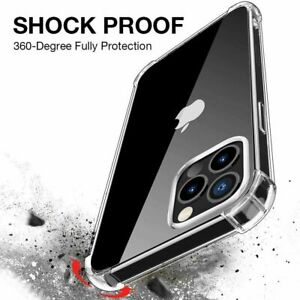CLEAR  GORILLA SHOCK PROOF Cover For iPhone 12 ,12 MINI . 12 PRO AND 12 PRO MAX