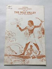 National Geographic Society Map 1965 Egypt Nile Valley Land of the Pharaohs