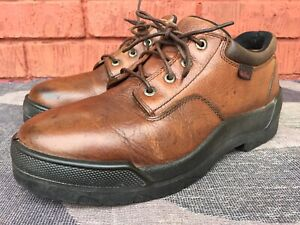 RED WING MEN'S BROWN LEATHER SAFETY WORK SHOES EH 111 Sz US 8.5 UK 7.5.