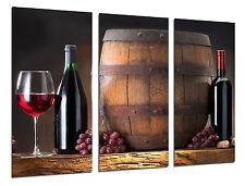 Carreau Moderne Photographie Vin Rouge, Raisins, Winery, 97 x 62 cm Réf. 26311