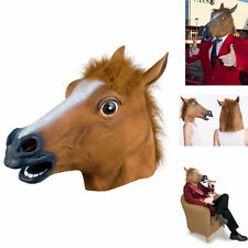Horse Head Mask Latex Costume Prop Gangnam Style Toys Party Halloween FE