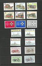 NEW ZEALAND -  1985 trams, navy, motorbikes, St Johns ambulance  MNH