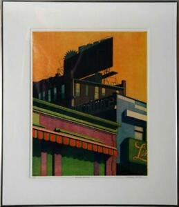 Michael Arike, Striped Awning, Etching and Aquatint, Signed and Numbered in penc