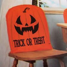 Pumpkin Chair Cover Halloween Decor Party Jack O' Lantern Haunted House Seat