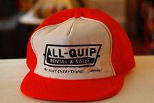 Rare Vtg All-Quip Rental and Sales Rent Mesh Trucker Snapback Hat Cap