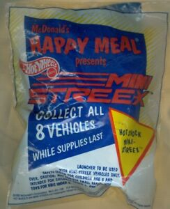 1992 McDonald's Happy Meal Toy Hot Wheels Mini Streex - Hot Shock - Unopened