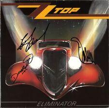 ZZ TOP Eliminator FULLY SIGNED Vinyl LP Billy Gibbons La Grange Autograph SIGNED